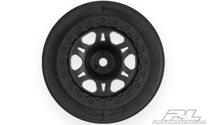 "Pro-Line Split Six 2.2""/3.0"" Black one-piece Wheels (2) for Slas"