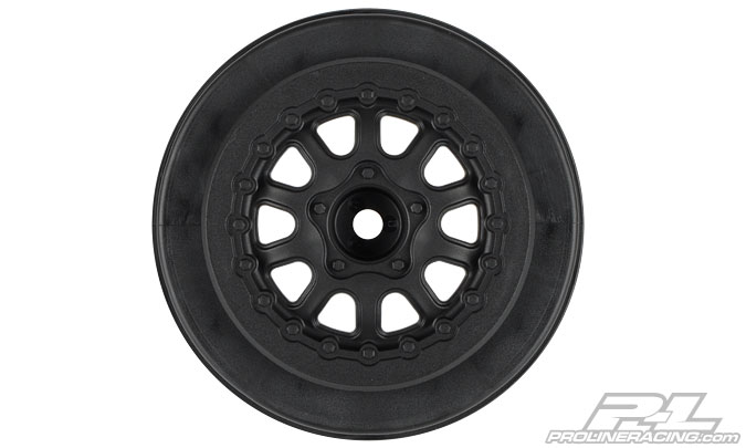 "Pro-Line Renegade 2.2""/3.0"" Black Wheels (2) for SlashR and Blit"