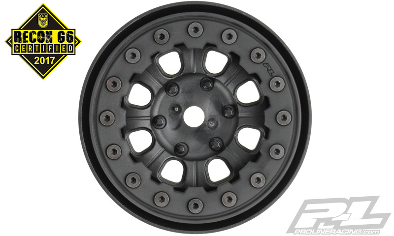 "Pro-Line Denali 1.9"" Black/Black Bead-Loc 8 Spoke Front or Rear"