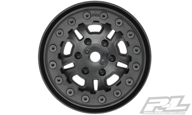 "Pro-Line FaultLine 1.9"" Black/Black Bead-Loc 10 Spoke Front or R"