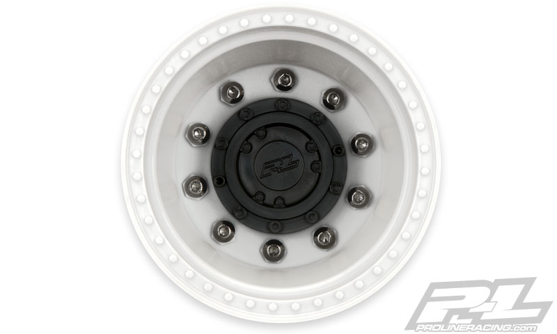 Pro-Line Brawler Clod Buster 2.6in White Wheel +17.5mm Wider Off