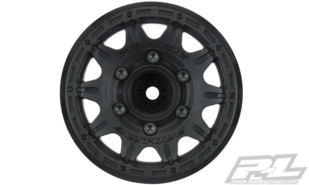"Pro-Line Raid 2.8"" Black 6x30 Removable Hex Wheels (2) for Stam"