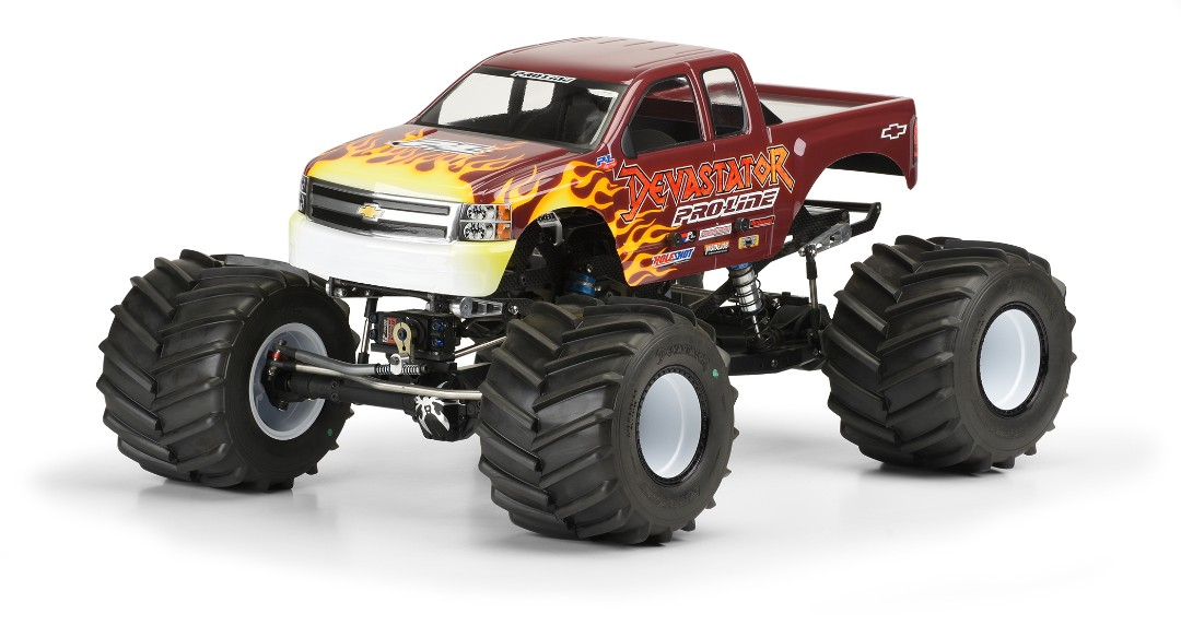 Pro Line 2007 Chevy Silverado Clear Body for Solid Axle Monster