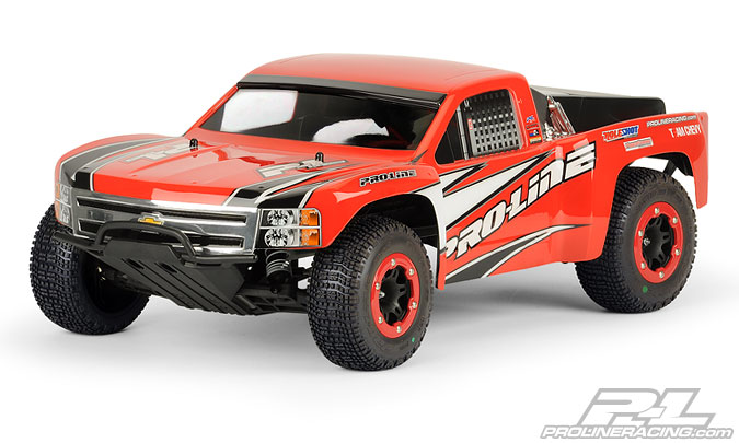 Pro-Line Chevy Silverado 1500 Clear Body for PRO-2 SC, Slash