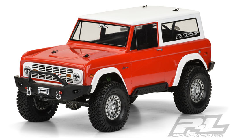 "Pro-Line 1973 Ford Bronco Body for 12"" (305mm) Wheelbase Crawler"