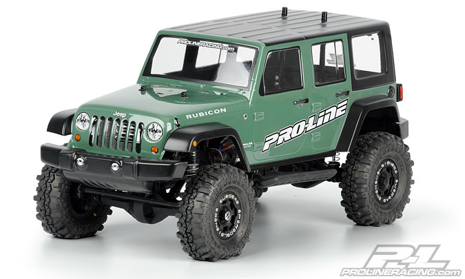 "Pro-Line JeepR Wrangler Unlimited Rubicon clear body for 12.3"" W"