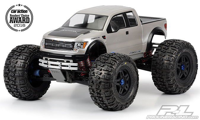 Pro-Line Ford F-150 SVT Raptor Clear Body for REVO 3.3, T-Maxx