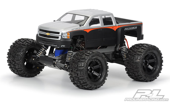 Pro-Line Chevy Silverado 2500 HD Clear body for Stampede