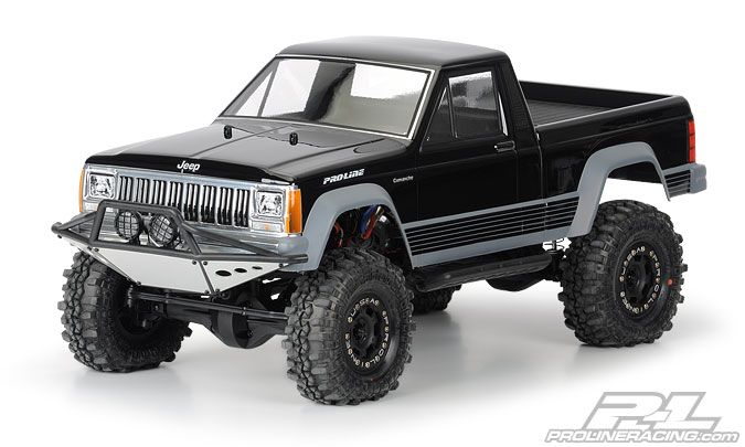 "Pro-Line JeepR Comanche Full Bed Clear Body for 12.3"" (313mm) Wh"