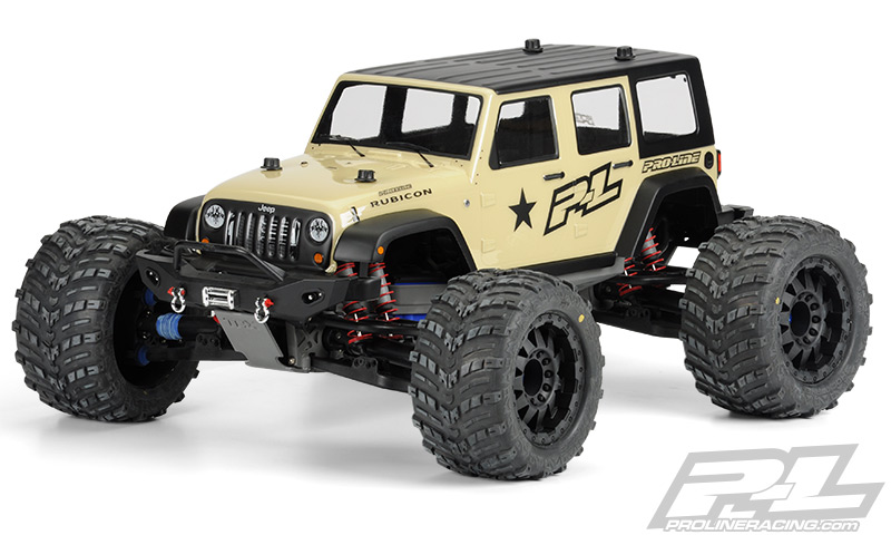 Pro-Line Jeep Wrangler Unlimited Rubicon Clear Body for T/E-MAX