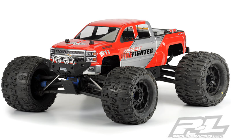 Pro-Line 2014 Chevy Silverado Clear Body for REVO/T-MAXX 3.3