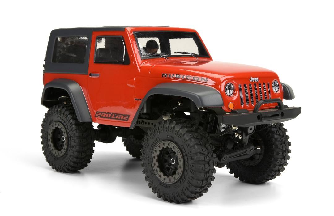 Pro-Line Jeep Wrangler Rubicon Clear Body with Interior