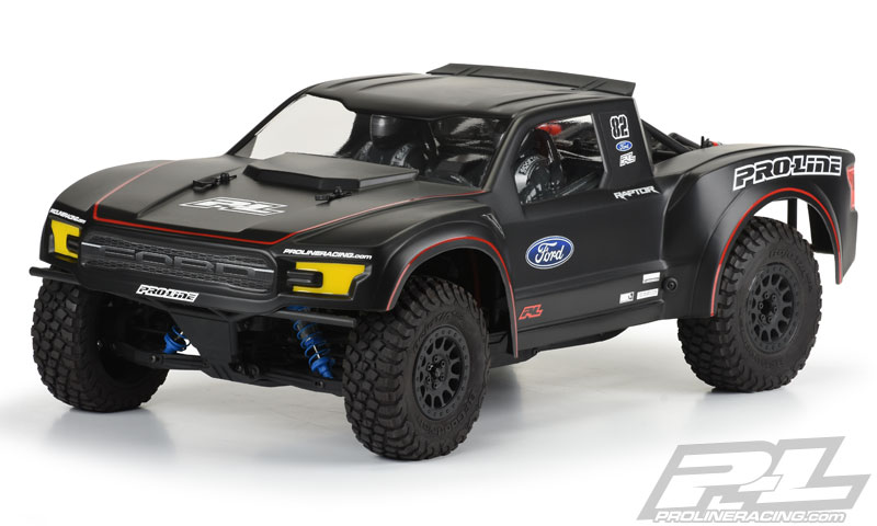 Pro-Line 2017 Ford F-150 Raptor Clear Body for Yeti Trophy Truck