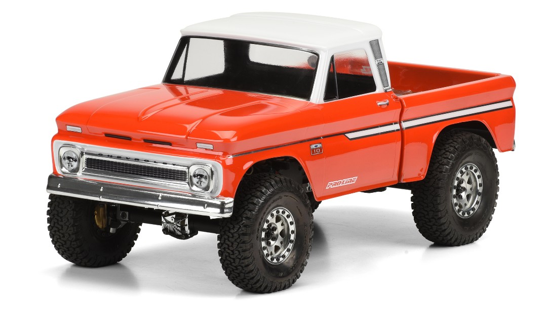 Pro Line 1966 Chevy C10 Clear Body (Cab & Bed) for SCX10
