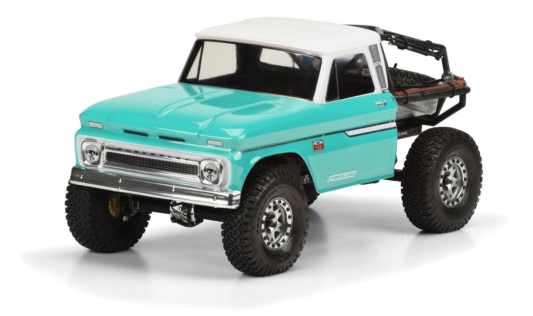 Pro Line 1966 Chevy C10 Clear Body (Cab Only) for SCX10