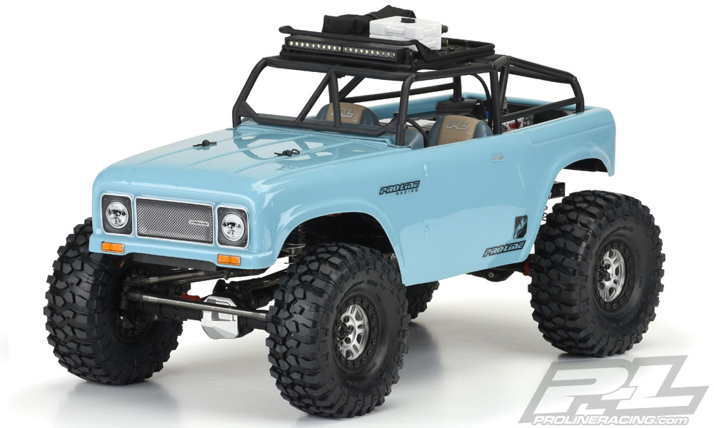 "Pro-Line Ambush Clear Body with Trail Cage 12.3"" WB Crawlers"