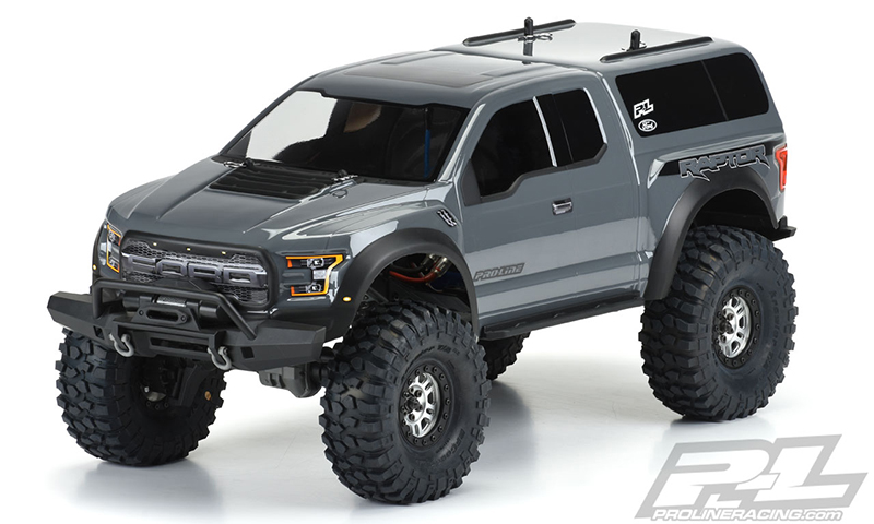 Pro-Line 2017 Ford F-150 Raptor Clear Body 12.8 Wheel Base TRX-4