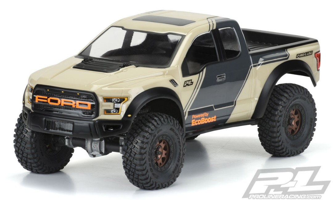 Pro-Line 2017 Ford F-150 Raptor Clear Body for 12.3 (313mm) Whe
