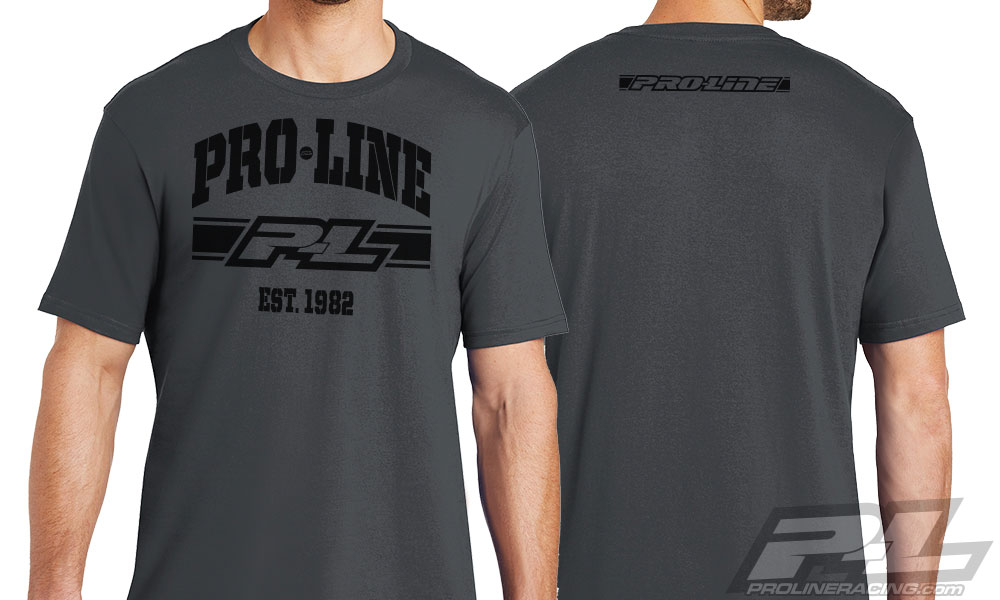 Pro-Line Established Charcoal Gray T-Shirt X-Large