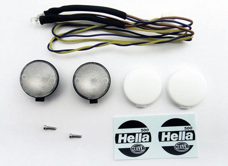 RC4WD 1/10 Light Assembly with Hella Decal