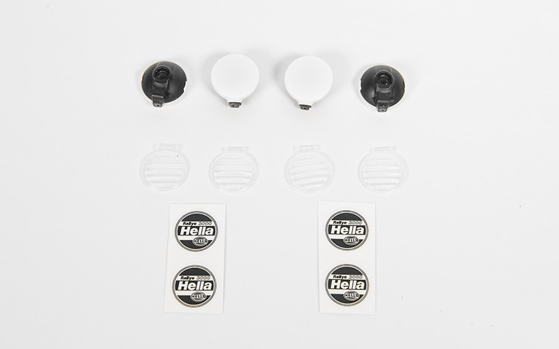 RC4WD 1/10 Hella Style Lights with Covers (4)