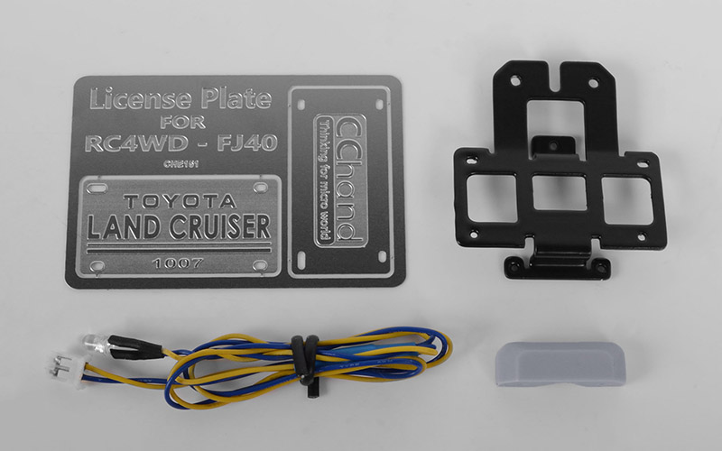 RC4WD Rear License Plate System for RC4WD G2 Cruiser (w/LED)
