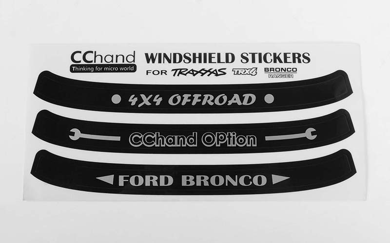 RC4WD Windshield Decals for Traxxas TRX-4 '79 Bronco Ranger XLT