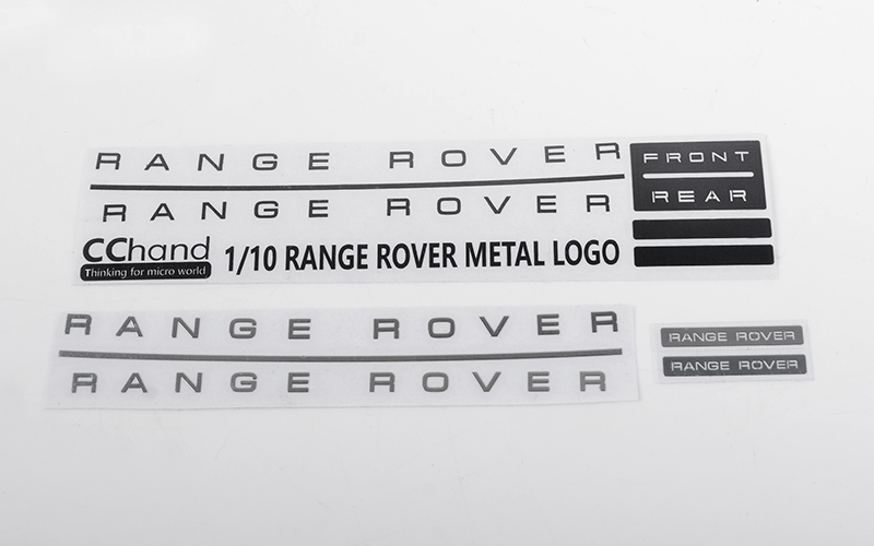 RC4WD Metal Emblem Set for JS Scale 1/10 Range Rover Classic Bo