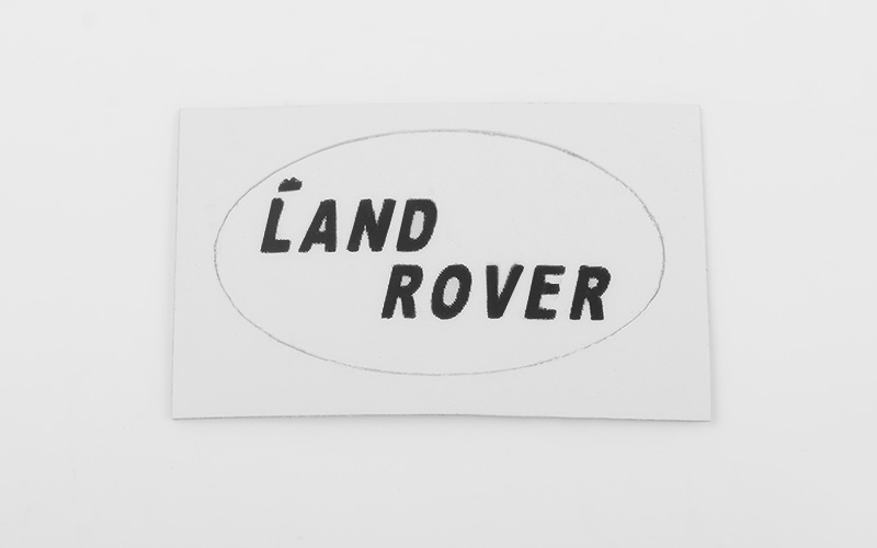 RC4WD Rear Logo Decal for JS Scale 1/10 Range Rover Classic Bod