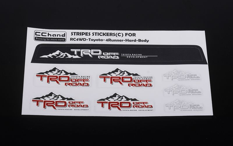 RC4WD Front Windshield Decals for 1985 Toyota 4Runner Hard Body