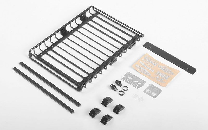 RC4WD Choice Roof Rack w/Roof Rack Rails and Rear Lights for 19