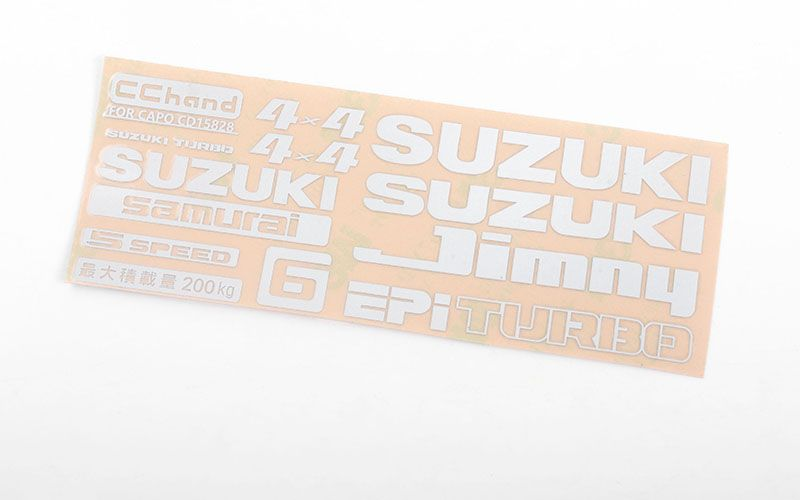 RC4WD Logo Decal Sheet for Capo Racing Samurai 1/6 RC Scale Cra