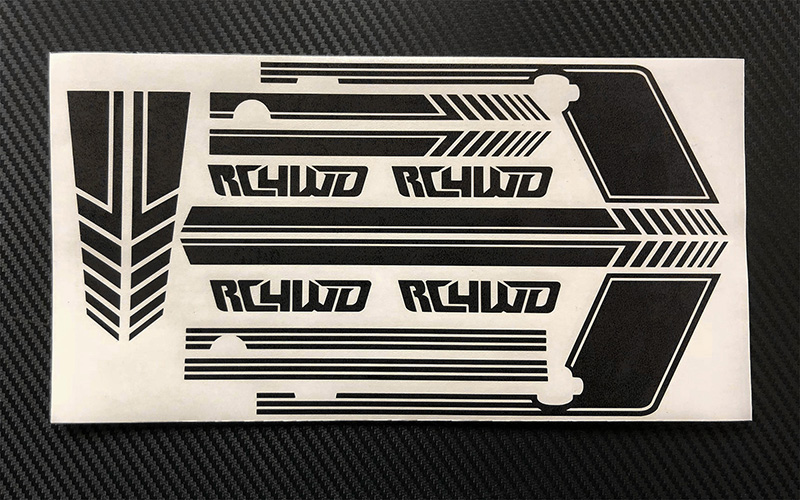 RC4WD Clean Stripes for D110 Decal Sheet (Black)