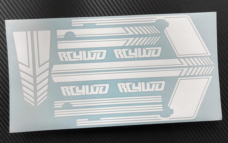 RC4WD Clean Stripes for D110 Decal Sheet (White)