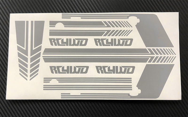 RC4WD Clean Stripes for D110 Decal Sheet (Grey)