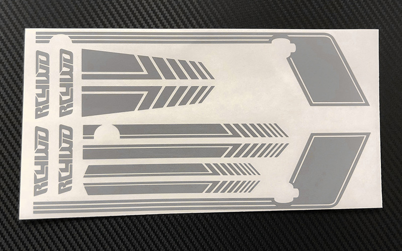 RC4WD Clean Stripes D90 Decal Sheet (Grey)