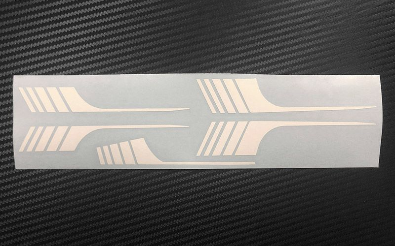 RC4WD Surf Stripes for 1985 4Runner Sheet - White