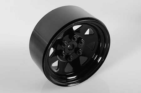 "RC4WD 6 Lug Wagon 1.9"" Single Steel Stamped Beadlock Wheel (Blac"