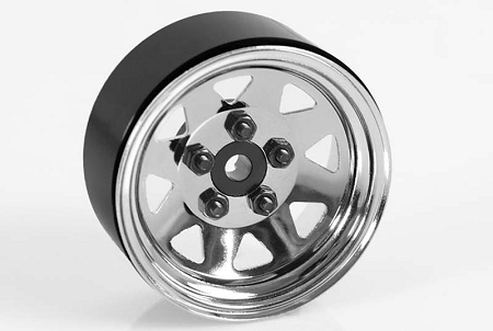 "RC4WD 5 Lug Wagon 1.9"" Single Steel Stamped Beadlock Wheel (Chro"