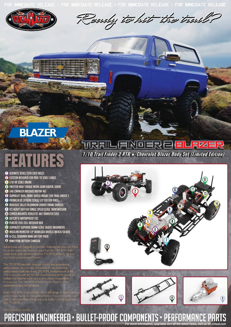 RC4WD Trail Finder 2 RTR w/Chevrolet Blazer Body Set (Ltd Ed.)