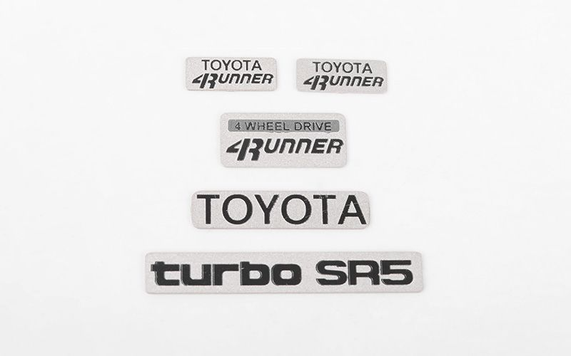 RC4WD 1985 Toyota 4Runner Emblem Set
