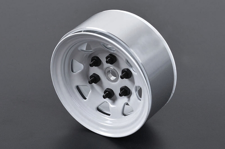 "RC4WD Stamped Steel 1.55"" Stock White Beadlock Wheel"