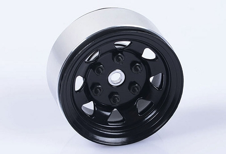 "RC4WD Stamped Steel 1.55"" Stock Black Beadlock Wheel"