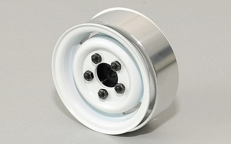 "RC4WD 1.55"" Landies Vintage Stamped Steel Beadlock Wheels (White"