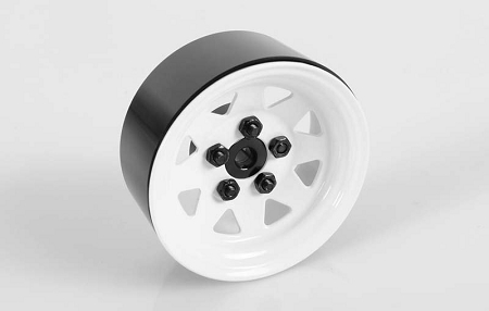"RC4WD 5 Lug Wagon 1.9"" Steel Stamped Beadlock Wheels (White)"