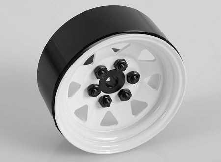 "RC4WD 6 Lug Wagon 1.9"" Steel Stamped Beadlock Wheels (White)"