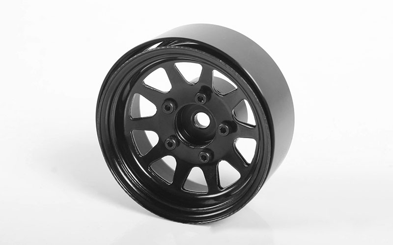 "RC4WD OEM Stamped Steel 1.55"" Beadlock Wheels (Black)"