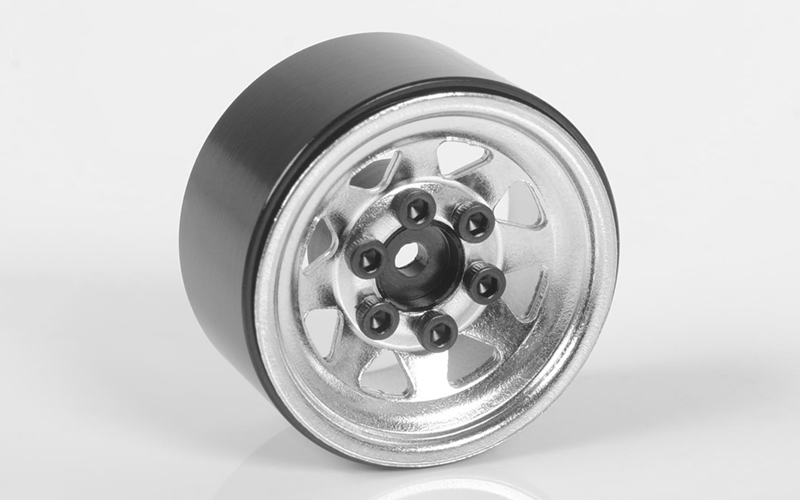 "RC4WD Stamped Steel 1.0"" Stock Beadlock Wheels (Chrome)"