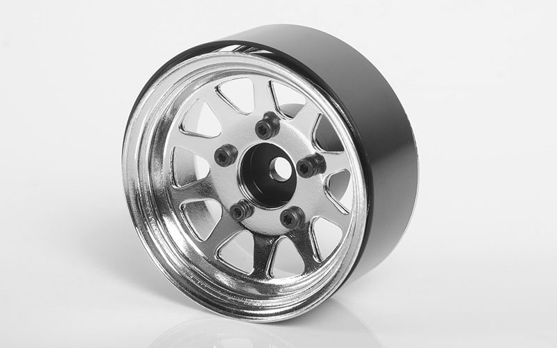 "RC4WD OEM Stamped Steel 1.55"" Beadlock Wheels (Chrome)"
