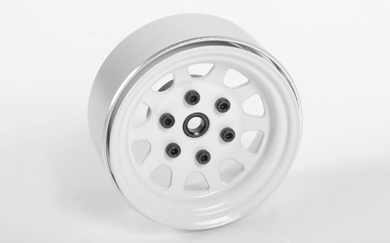 "RC4WD Stamped Steel 1.7"" Beadlock Wagon Wheels (White)"